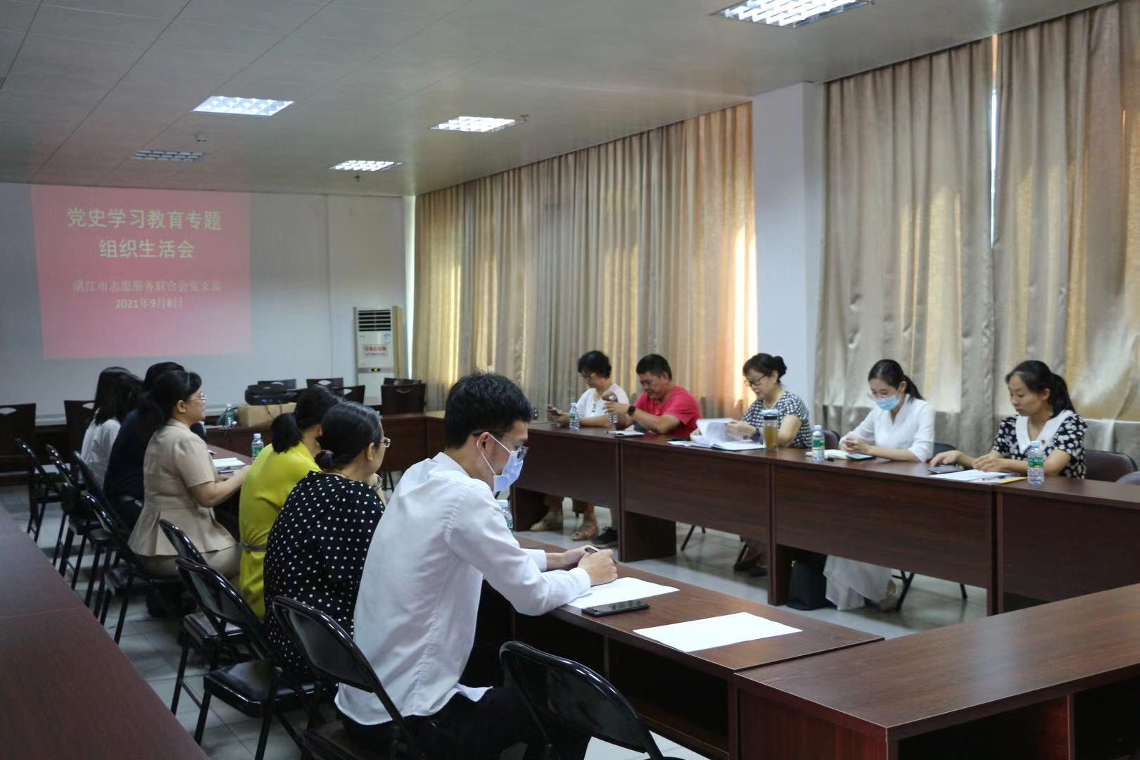 湛江市志愿服务联合会开展党史学习教育专题
